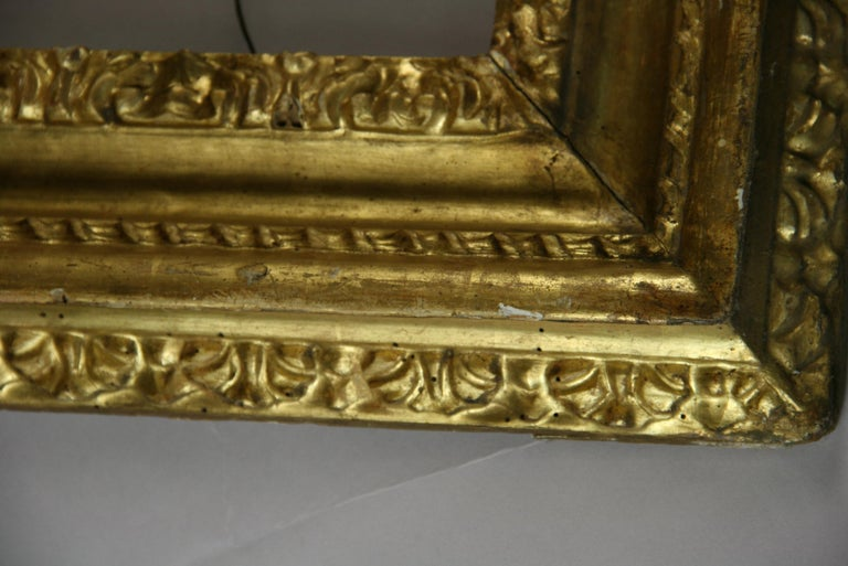 over Sized 19th Century Italian Water Giltwood Frame For Sale 4