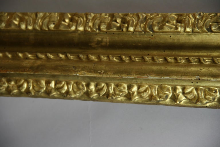 over Sized 19th Century Italian Water Giltwood Frame For Sale 5