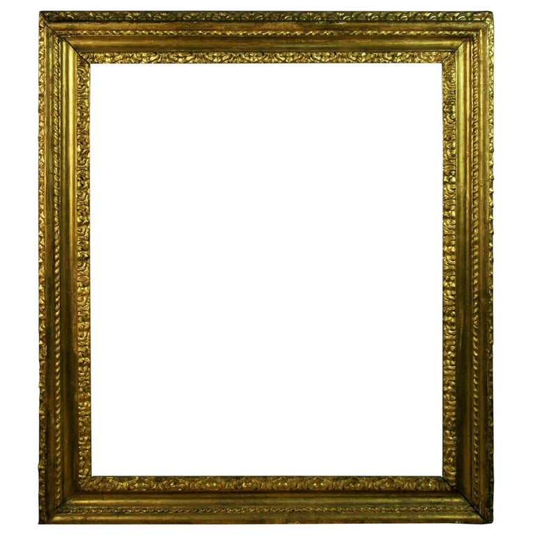 over Sized 19th Century Italian Water Giltwood Frame For Sale