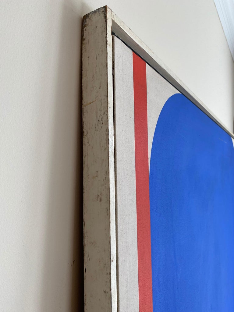 20th Century Over-Sized Blue Abstract Painting by Russell Arnold, 1965 For Sale