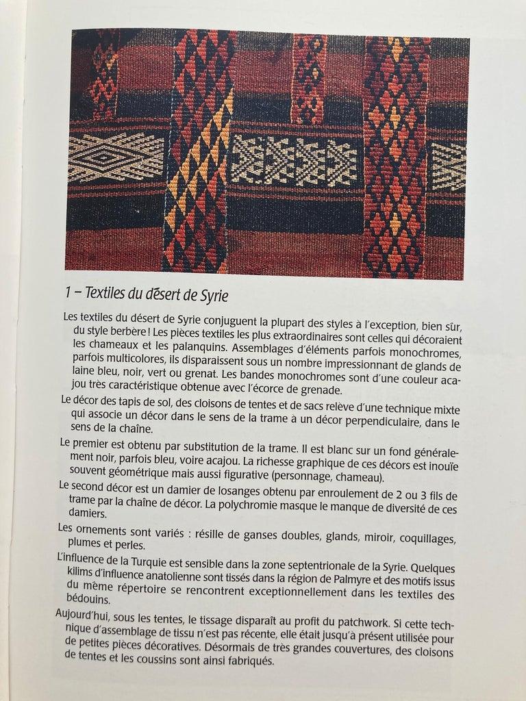 Over the Desert Au Fil du Désert Textiles from the Nomadic Desert Book For Sale 1