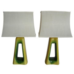 Over the Top Oversized Midcentury Ceramic Lamps