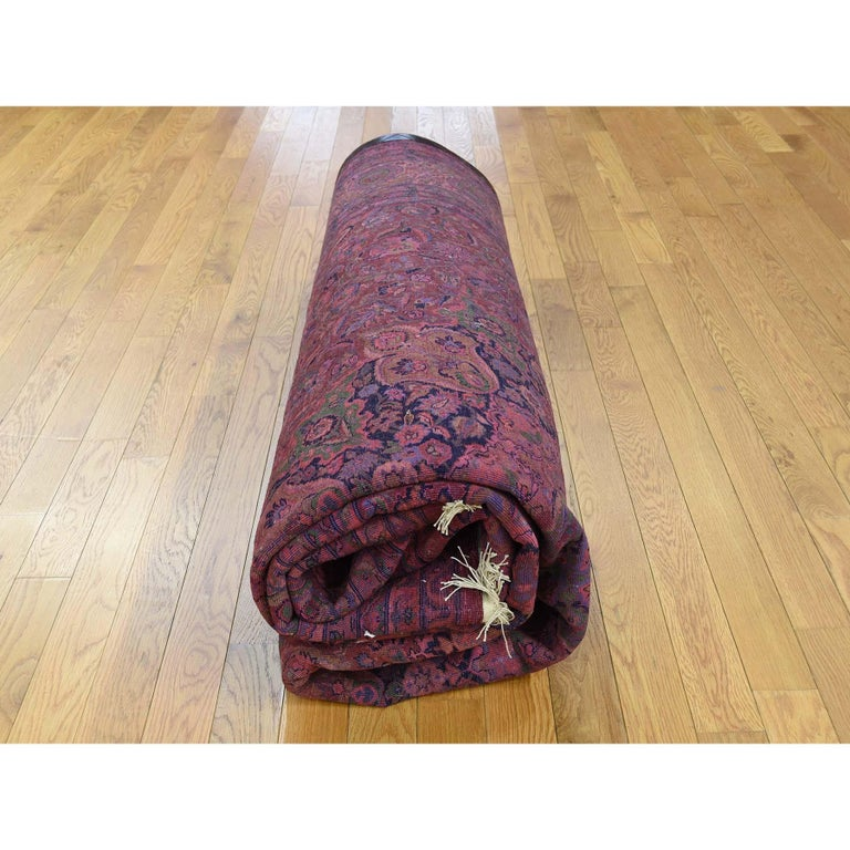 Overdyed Pak Persian 300 Kpsi Hand Knotted Full Pile Oriental Rug For Sale 2