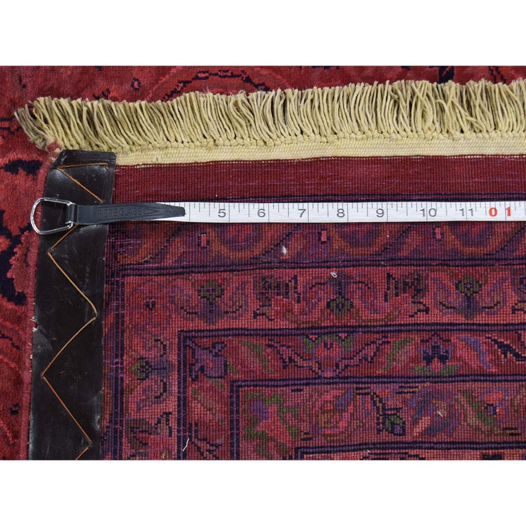 Overdyed Pak Persian 300 Kpsi Hand Knotted Full Pile Oriental Rug For Sale 4