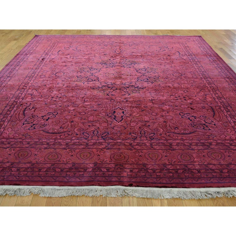Other Overdyed Pak Persian 300 Kpsi Hand Knotted Full Pile Oriental Rug For Sale
