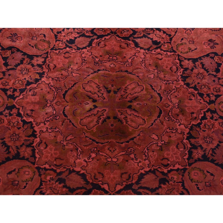 Overdyed Pak Persian 300 Kpsi Hand Knotted Full Pile Oriental Rug For Sale 1
