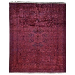 Overdyed Pak Persian 300 Kpsi Hand Knotted Full Pile Oriental Rug