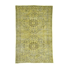 Overdyed Persian Bakhtiar Vintage Hand Knotted Oriental Rug