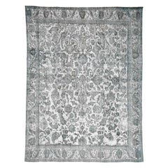 Overdyed Persian Tabriz Hand Knotted Pure Wool Oriental Rug