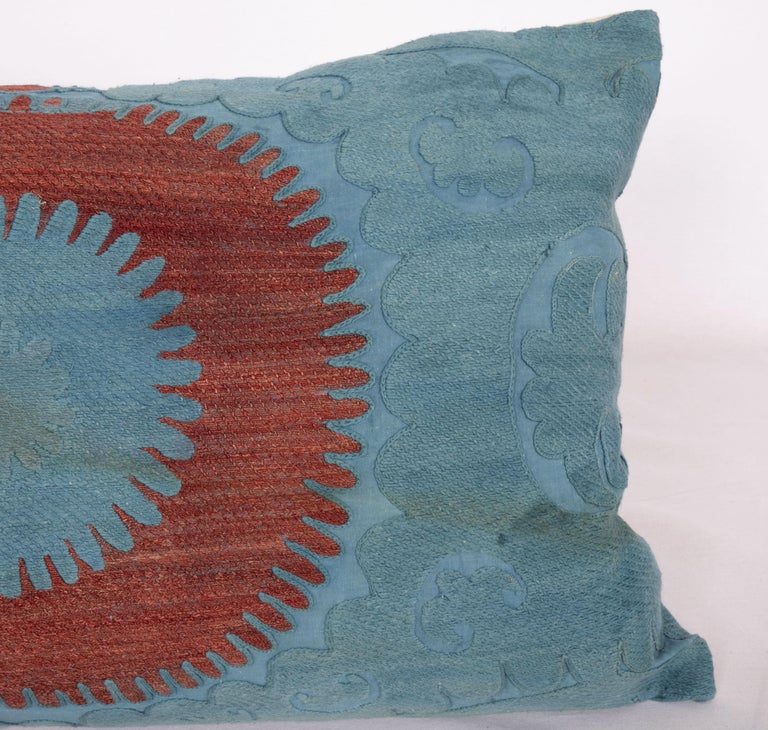 Overdyed Vintage Suzani Pillow Case, Mid-20th Century In Good Condition In Istanbul, TR