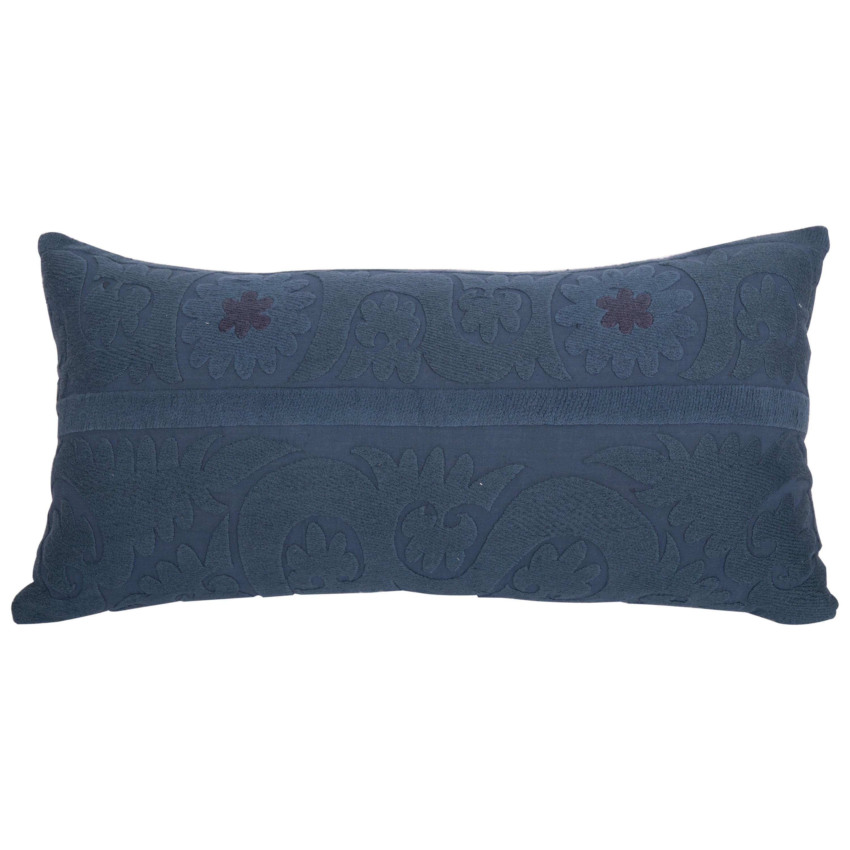 Overdyed Vintage Suzani Pillow Case, Mid-20th Century