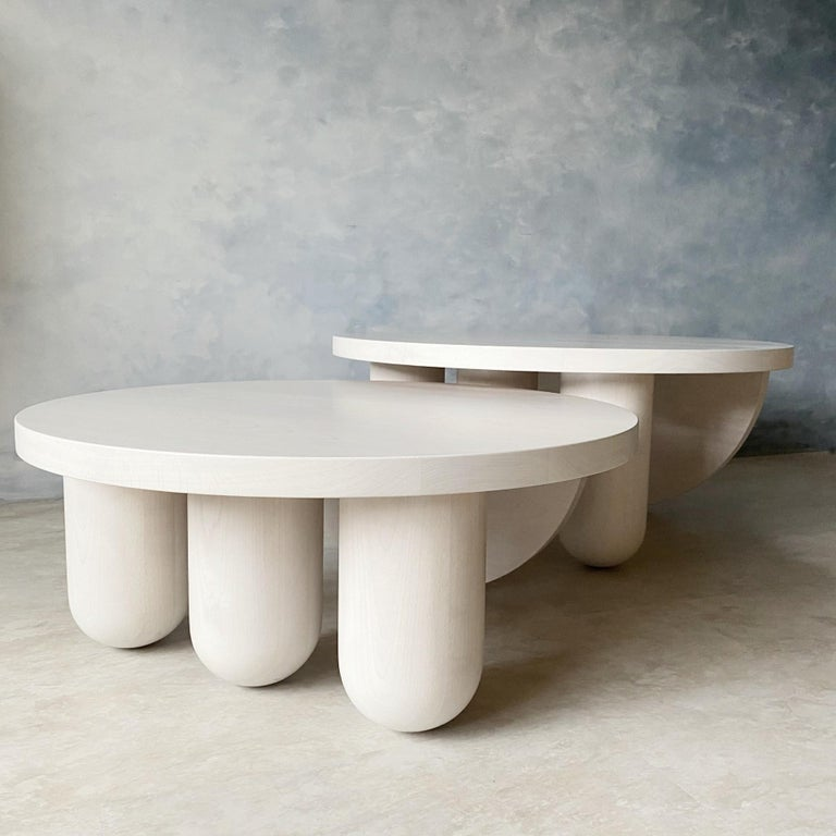 Modern Overlapping Tricolumn Coffee Table by MSJ Furniture Studio For Sale