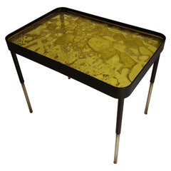 Overlay Side Table Made of Yellow Acrylic Design Roberto Giacomucci in 2020