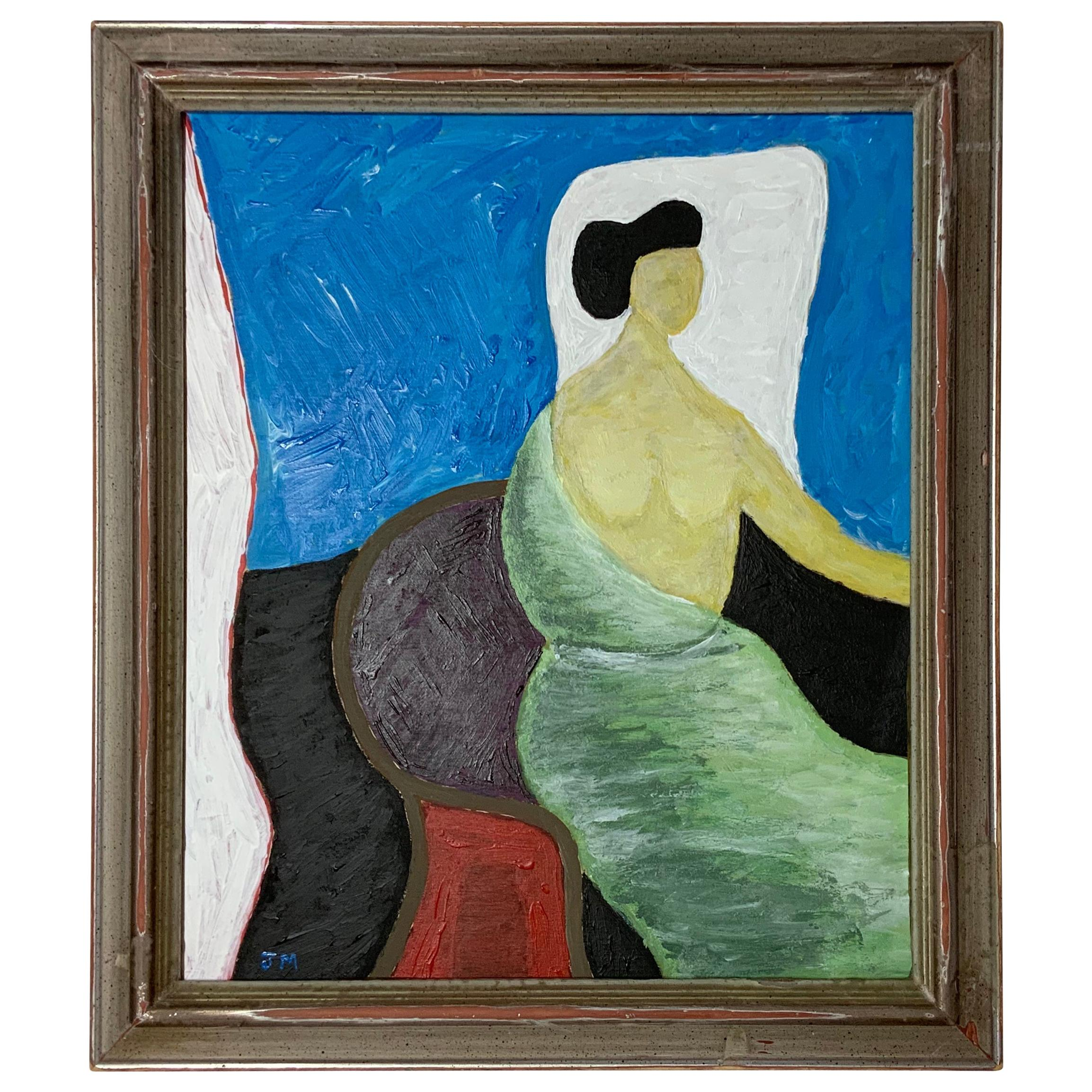 'Overlooking Sitting Woman, by Joseph Malekan