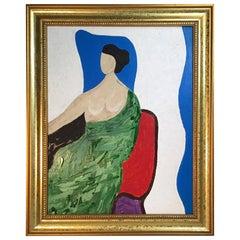 Overlooking Sitting Woman