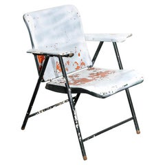 Overpainted Folding Armchair by Russel Wright