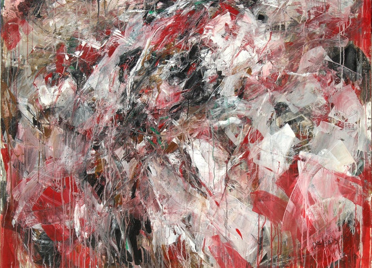 Modern Monumental Abstract Oil Painting on Canvas by Dehais,  1985 For Sale