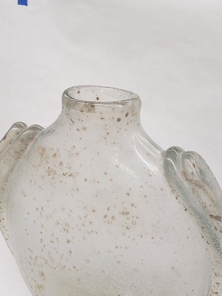 Late 20th Century Overscaled Scavo Vase by Barbini For Sale