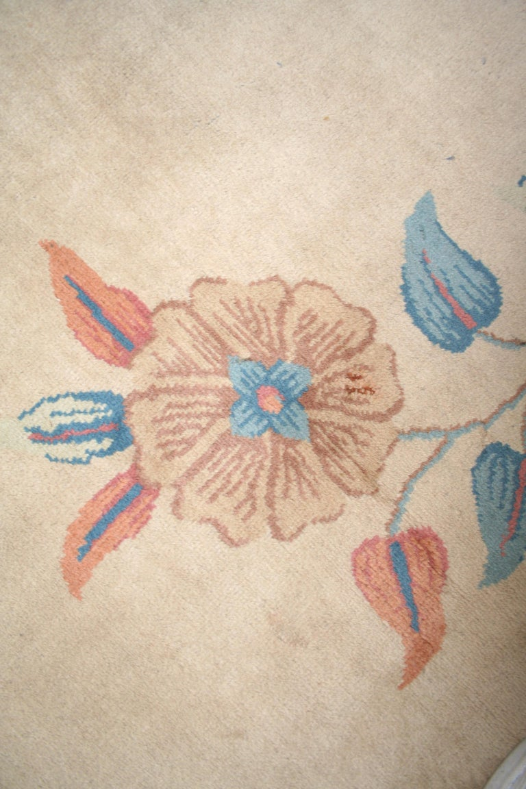 Oversize Antique Art Deco Geometric Rug in the Da Silva Bruhns Style, 1920's For Sale 4