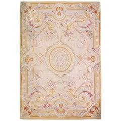 Oversize Antique French Aubusson Rug Carpet, circa 1890