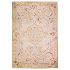 Oversize Antique French Aubusson Rug Carpet, circa 1890  21' x 32'