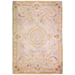 Oversize Antique French Aubusson Rug Carpet