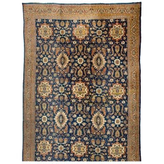 Oversize Antique Persian Sultanabad Rug with Multicolored Floral Details