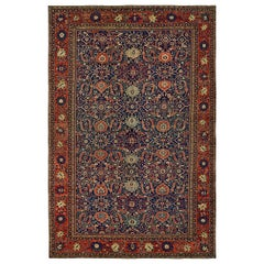 Oversize Antique Persian Wool Sultanabad Mahal Traditional Carpet