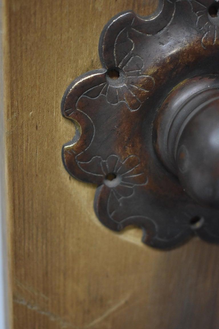 Cast Oversize Bronze Door Knocker For Sale
