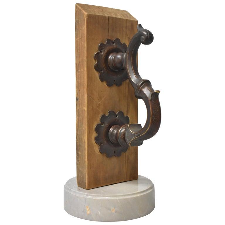 Oversize Bronze Door Knocker For Sale