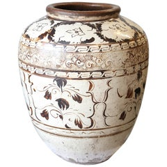 Over sized Chinese Ming Dynasty Cizhou Ware Ceramic Jar