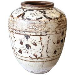 Giant Chinese Ming Dynasty Cizhou Ware Ceramic Jar