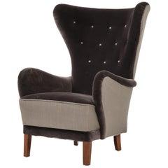 Oversize Danish Modern Armchair, circa 1950s