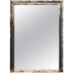 Oversize French Wood Mirror