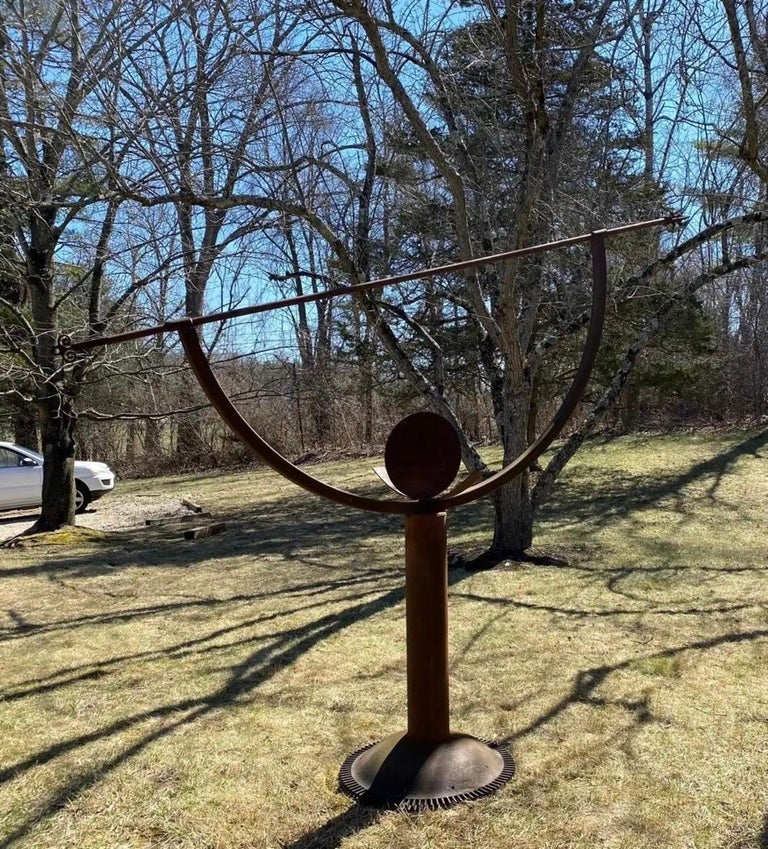 Hand-Crafted Oversize Large Scale Garden Armillary For Sale
