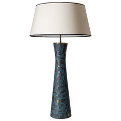 Oversize Mosaic Table Lamp, 1950s