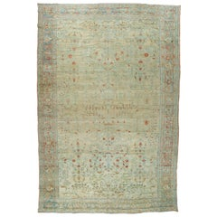 Oversize Pale Persian Antique Rug