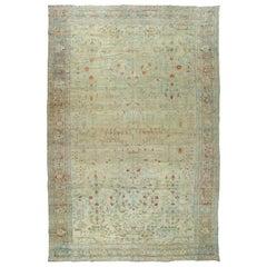 Oversize Pale Persian Antique Rug