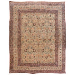 Oversize Persian Antique Kerman Rug