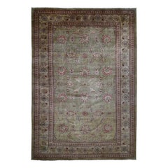 Oversize Peshawar 100 Percent Wool Hand Knotted Oriental Rug
