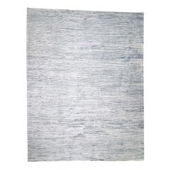 Oversize Silk With Oxidized Wool Gabbeh Design Hand Knotted Rug