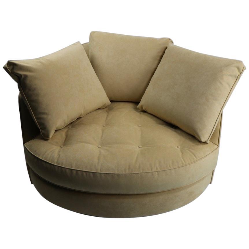 Oversize Swivel Chair by Baughman