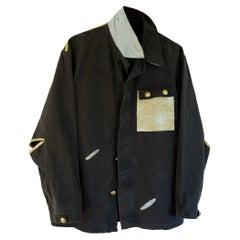 Oversize Vintage Military Grey Jacket Gold Lurex One of a kind J Dauphin