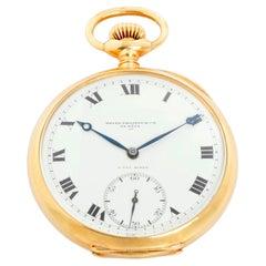 Oversize Vintage Patek Philippe 18 Karat Yellow Gold Open Face Pocket Watch
