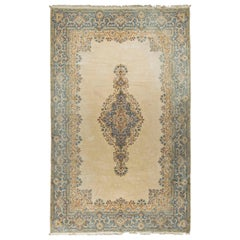 Oversize Vintage Persian Kirman Rug