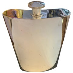 Oversized 1 Gallon Silver Plate Hip Flask, circa 1950