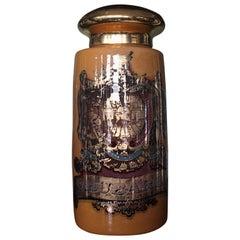 Oversized 19th Century Chemist Apothecary Species Dispensing Jar Verre Eglomise