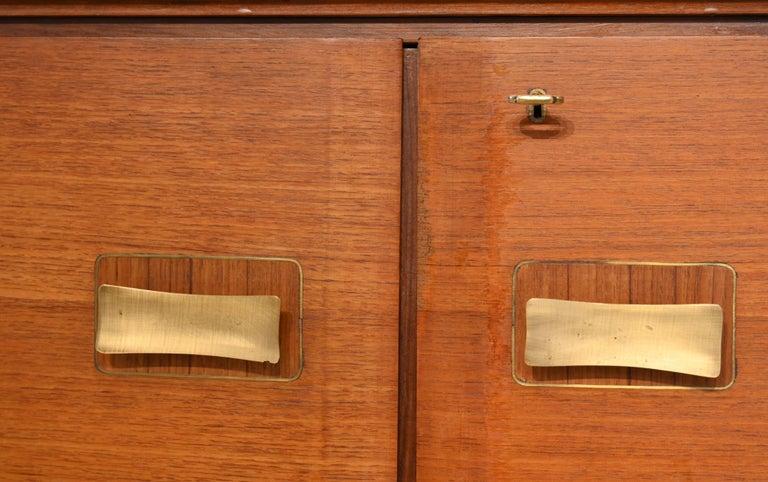 20th Century Oversized 6 Door Sideboard by Paolo Buffa Italy 1950 Mahogany For Sale