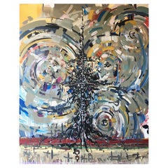 Oversized Abstract Painting `on Canvas