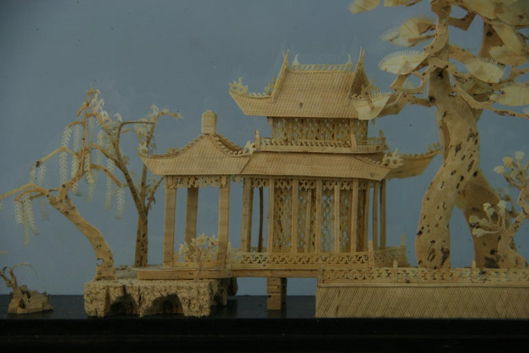 Mid-20th Century Oversized Antique Chinese Cork Diorama For Sale